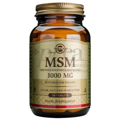 MSM METHYLSULFONYLMETHANE 1000MG 60 TABLETS SOLGAR