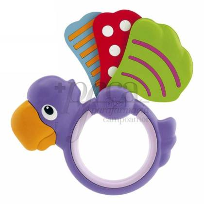 CHICCO PARROT RATTLE +3M