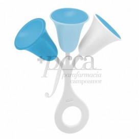 CHICCO TULIP RATTLE +3M BLUE