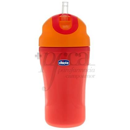 CHICCO RED CUP FOR WALKS +18M 266 ML