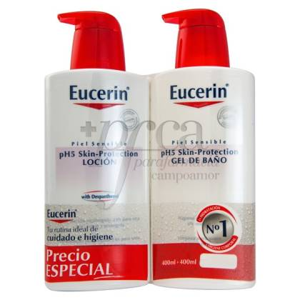 EUCERIN LOTION 400ML + BATH GEL 400ML PROMO
