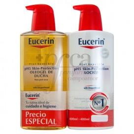 EUCERIN SHOWER OIL GEL 400ML + LOTION 400ML PROMO