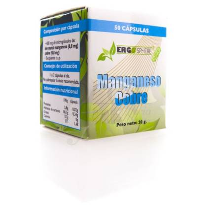 ERGONAT MANGANESE+ COPPER 50 CAPSULES