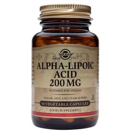 ALPHA LIPOIC ACID 200MG 50 CAPSULES SOLGAR