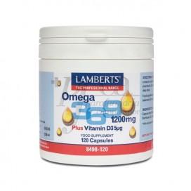OMEGA 3-6-9 1200MG + VITAMINA D3 120 CAPS 8498 LAMBERTS