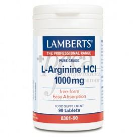 L-ARGININA HCI 1000MG 90 TABLETTEN LAMBERTS