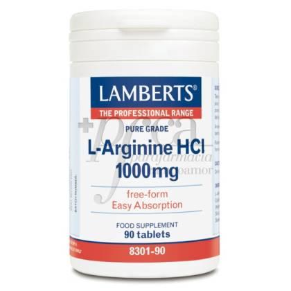 L-ARGININA HCI 1000MG 90 TABLETS LAMBERTS
