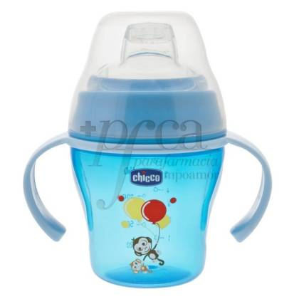 CHICCO SOFT CUP +6M 200ML PINK OR BLUE