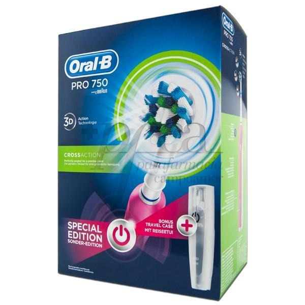 Oral B Elektrische Zahnbürste Pro 750 Cross Action Pink Promo Parafarmacia Campoamor