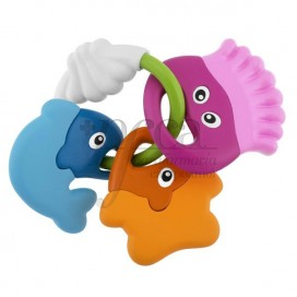 CHICCO FISH RATTLE UND TEETHER +3M