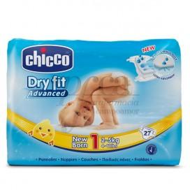 CHICCO FRALDAS DRYFIT T1 2-5KG 27 UNIDADES