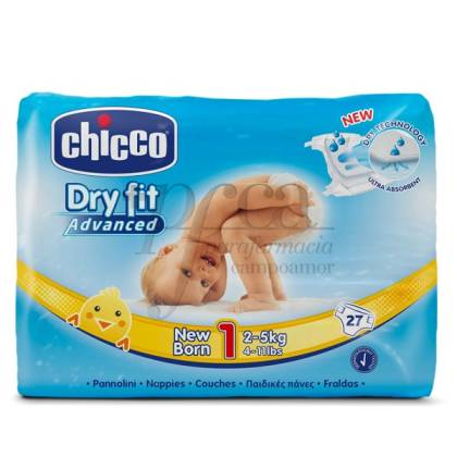 CHICCO DIAPERS DRYFIT SIZE 1 2-5KG 27 UNITS