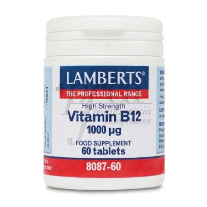 VITAMINA B12 1000MCG 60 COMPRIMIDOS LAMBERTS