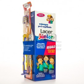 LACER JUNIOR ENJUAGUE 500ML + CEPILLO PROMO