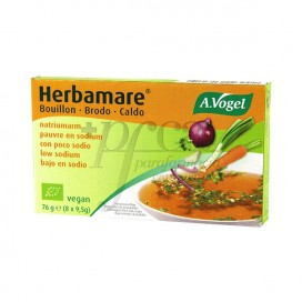 HERBAMARE LOW SODIUM BROTH 8 STOCK 8 CUBES A VOGEL