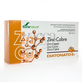 DIATONATO 5-1 ZINCO COBRE 28X 2ML R17032