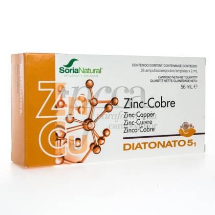 DIATONATO 5-1 ZINC COPPER 28 X 2 ML SORIA NATURAL R.17032