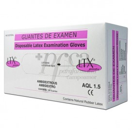 NON-STERILE EXAMINATION LATEX GLOVES SIZE LARGE 100 UNITS