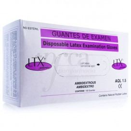 GLOVES LTX LATEX AQL 1.5 SIZE M 100 UNITS