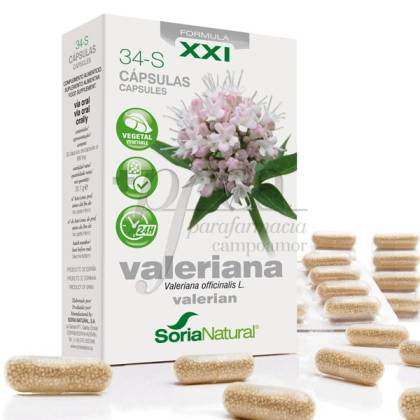 SORIA NATURAL 34-S VALERIANA RETARD 30 CAPS