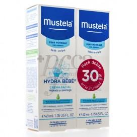 MUSTELA HYDRA BEBE CREMA FACIAL 2X40 ML PROMO