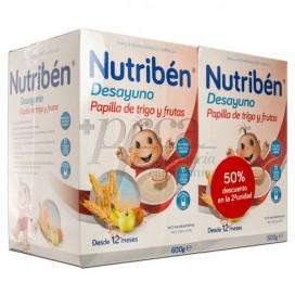 NUTRIBEN DESAYUNO TRIGO Y FRUTAS 2X 600G PROMO
