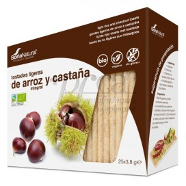 BIO RICE AND CHESTNUT TOASTS 25 UNITS SORIA NATURAL R.80503