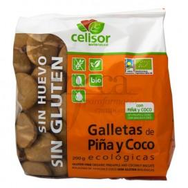 GALLETAS DE PIÑA Y COCO ECOLOGICAS 200 G SORIA NATURAL
