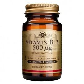 VITAMIN B12 500MG 50 KAPSELN SOLGAR