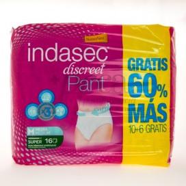 INDASEC DISCREET PANT SUPER T/MEDIA 10+6U PROMO