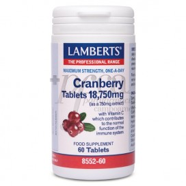 ROTE CRANBERRY 18750MG 60 TABLETTEN LAMBERTS