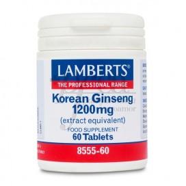 GINSENG KOREANO 1200MG 60 COMPS LAMBERTS