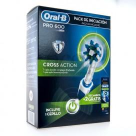 ORAL-B CEPILLO ELECTRICO CROSS ACTION PRO600 + 2 RECAMBIOS PROMO
