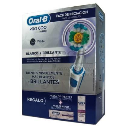 CEPILLO ORAL-B PRO600 3D WHITE + REGALO PROMO