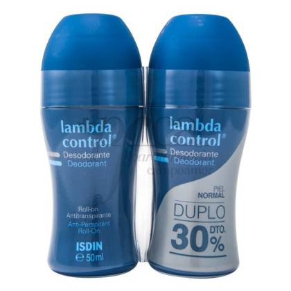 LAMBDA CONTROL DESODORANTE ROLL-ON 2X 50ML PROMO