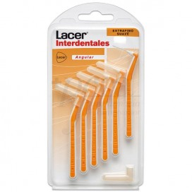 LACER INTERDENTAL BRUSH EXTRA-FINE SOFT WITH ANGLE 6 UNITS