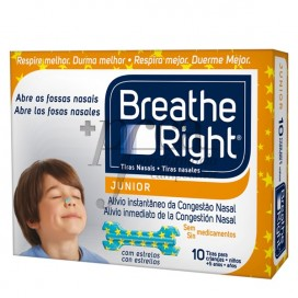 BREATHE RIGHT KIDS NASAL STRIPS 10 PIECES
