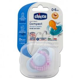 CHICCO 1 CHUPETE PHYSIO COMPACT CAUCHO 0M+ NIÑA