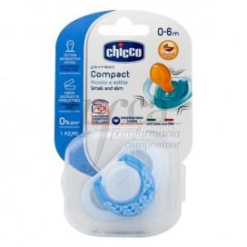 CHICCO 1 CHUPETE PHYSIO COMPACT CAUCHO 0M+ NIÑO