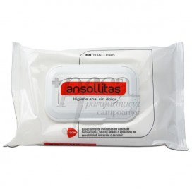ANSOLLITAS WIPES FOR ANAL HYGIENE 50 WIPES