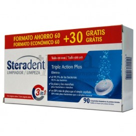 STERADENT TRIPLE ACTION PLUS 90 TABLETS