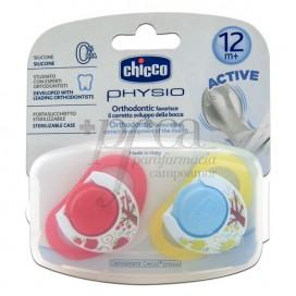 CHICCO CHUPETE PHYSIO SILICONA 12M+ 2U