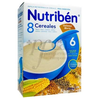 NUTRIBEN 8 CEREALES GALLETAS MARÍA  300G