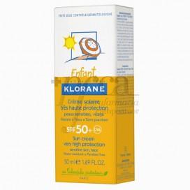 KLORANE BEBÊ CREME DE PROTEÇÃO SOLAR SPF50+ 50 ML