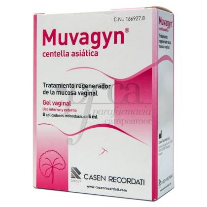 MUVAGYN CENTELLA ASIATICA GEL VAGINAL 8X 5ML