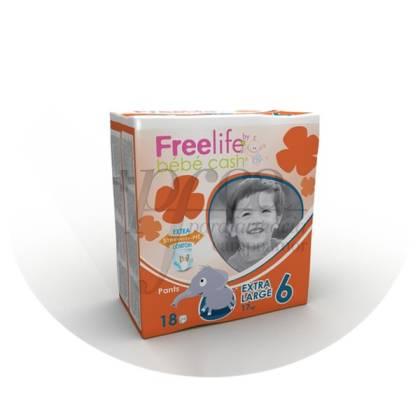FREELIFE BEBECASH PAÑAL INFANTIL PANTS +18 KG XL