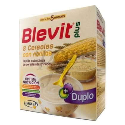 BLEVIT PLUS 8 CEREAL CON NATILLA 600G