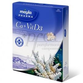 MAYLAPHARMA CALCIUM+ VIT D3 30 CAPSULES