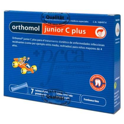 ORTHOMOL JUNIOR C PLUS FRAMBUESA LIMA 7 STICKS