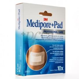 MEDIPORE PAD DRESSING 5X7.2 CM 10 UNITS